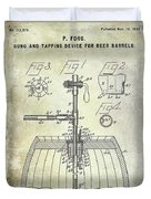 1902 Beer Tapping Device Patent Duvet Cover
