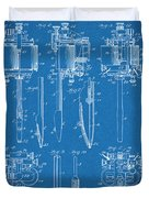 1904 Wagner Tattoo Machine Blueprint Patent Print Duvet Cover