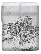 1913 Side Car Attachment For Motorcycle Gray Patent Print Duvet Cover