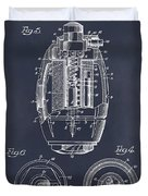 1917 Hand Grenade Blackboard Patent Print Duvet Cover