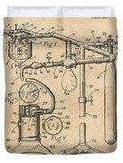 1919 Anesthetic Machine Antique Paper Patent Print Duvet Cover