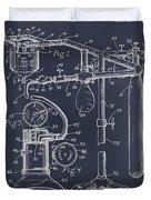1919 Anesthetic Machine Blackboard Patent Print Duvet Cover