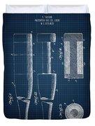 1919 Baseball Bat - Dark Blueprint Duvet Cover