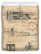1919 Motor Driven Hair Clipper Antique Paper Patent Print Duvet Cover