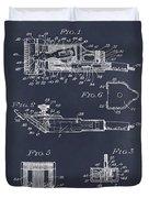 1919 Motor Driven Hair Clipper Blackboard Patent Print Duvet Cover