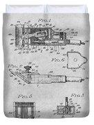 1919 Motor Driven Hair Clipper Gray Patent Print Duvet Cover