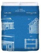 1920 Lincoln Logs Blueprint Patent Print Duvet Cover