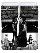 1920s 1930s Group Of Passengers Waiting Duvet Cover