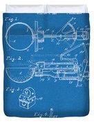 1924 Ice Cream Scoop Blueprint Patent Print Duvet Cover