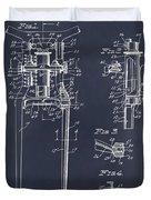 1929 Harley Davidson Front Fork Blackboard Patent Print Duvet Cover