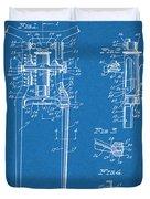 1929 Harley Davidson Front Fork Blueprint Patent Print Duvet Cover