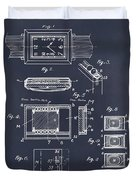 1930 Leon Hatot Self Winding Watch Patent Print Blackboard Duvet Cover