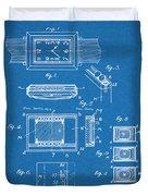 1930 Leon Hatot Self Winding Watch Patent Print Bluebrint Duvet Cover