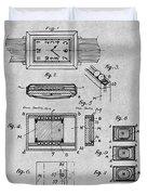 1930 Leon Hatot Self Winding Watch Patent Print Gray Duvet Cover