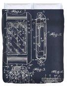 1931 Self Winding Watch Patent Print Blackboard Duvet Cover