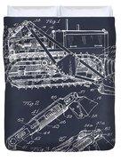 1932 Earth Moving Bulldozer Blackboard Patent Print Duvet Cover