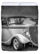 1933 Ford Tudor Sedan With Trailer Duvet Cover