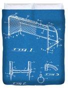 1933 Soccer Goal Blueprint Patent Print Duvet Cover
