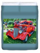 1934 Ford 3 Window Coupe Hot Rod Duvet Cover