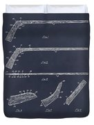 1934 Hockey Stick Patent Print Blackboard Duvet Cover