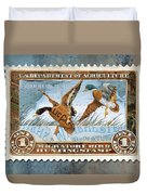 1934 Hunting Stamp Collage Duvet Cover by Clint Hansen