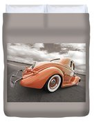 1935 Ford Coupe In Bronze Duvet Cover