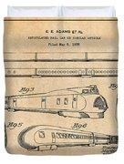 1935 Union Pacific M-10000 Railroad Antique Paper Patent Print Duvet Cover