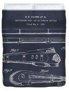 1935 Union Pacific M-10000 Railroad Blackboard Patent Print Duvet Cover