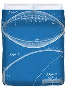 1936 Reach Football Blueprint Patent Print Duvet Cover
