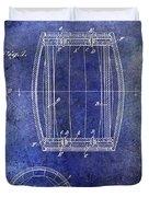 1937 Whiskey Barrel Patent Duvet Cover