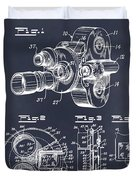 1938 Bell And Howell Movie Camera Patent Print Blackboard Duvet Cover