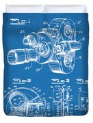 1938 Bell And Howell Movie Camera Patent Print Blueprint Duvet Cover