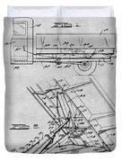 1939 Dump Truck Gray Patent Print Duvet Cover