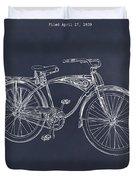 1939 Schwinn Bicycle Blackboard Patent Print Duvet Cover