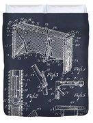 1947 Hockey Goal Patent Print Blackboard Duvet Cover
