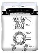 1951 Basketball Goal - Black Retro Style Duvet Cover