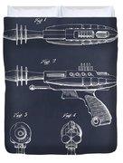 1953 Ray Gun Toy Pistol Blackboard Patent Print Duvet Cover