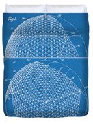 1954 Geodesic Dome Blueprint Patent Print Duvet Cover