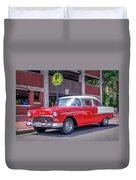1955 Chevrolet Bel Air  Duvet Cover