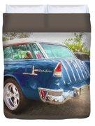 1955 Chevrolet Bel Air Nomad Station Wagon 228 Duvet Cover