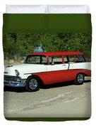 1956 Chevrolet Handyman Station Wagon  Duvet Cover