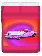 1957 Oldsmobile 98 Starfire Duvet Cover