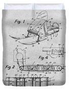 1960 Bombardier Snowmobile Gray Patent Print Duvet Cover