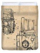 1960 Rolleiflex Photographic Camera Antique Paper Patent Print Duvet Cover