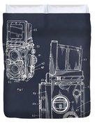 1960 Rolleiflex Photographic Camera Blackboard Patent Print Duvet Cover