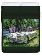 1961 Chevrolet Corvette 002 Duvet Cover