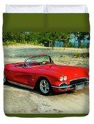 1962 Corvette Roadster Custom Duvet Cover