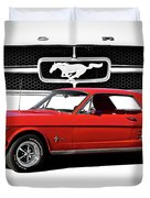 1965 Mustang 289 Coupe Duvet Cover