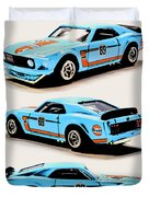 1969 Ford Mustang Boss 302 Duvet Cover