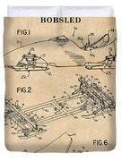 1982 Bobsled Antique Paper Patent Print  Duvet Cover